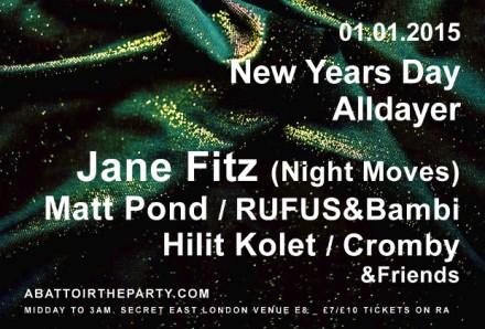 ABATTOIR NEW YEARS DAY SPECIAL WITH JANE FITZ MATT POND HILIT KOLET RUFUS&BAMBI CROMBI