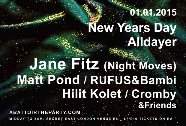 ABATTOIR NEW YEARS DAY SPECIAL WITH JANE FITZ MATT POND HILIT KOLET RUFUS&BAMBI CROMBI